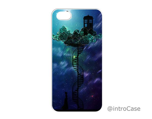 Tardis in Victorian Sky iPhone 4, 4S, 5, 5C, 5S Samsung Galaxy S3, S4, S5 Case  A snap-fit case that provides protection to the back and sides of your phone from slight wear and tear. Fits for iPhone 4, 4S, 5, 5S, 5C, iPod Touch 4th, 5th, Samsung Galaxy S3, S4, S5 and Samsung Galaxy Note 1, 2, 3 models.      Ultra slim and thin profile     Clear image printed on durable material     Protect your phone from slight wear and tear     Doesn't cover the front of the phone