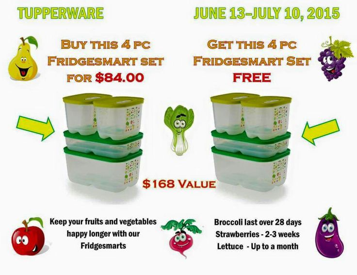 Order yours before the sale is over. I own this product myself and no exaggeration I am going on 2 weeks with my blueberries that look the same as day 1. Order yours today my.tupperware.com/gima