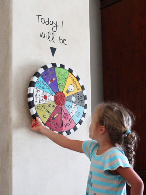 A lazy susan! GENIUS! Why didn't I think of that? Wouldn't this be cool if it had different rewards painted on and an especially good kid got to spin the wheel for a reward?