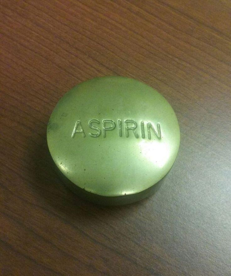 Brass Paperweight Aspirin
