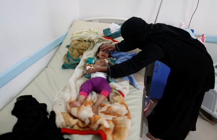 Yemen is in 'complete meltdown' and civilians are paying the price  The almost three-year conflict in Yemen has killed thousands, and spurred a severe cholera outbreak, plus critical food and medical care shortages. We take a look at the crisis with a documentary excerpt from PBS's Frontline, then Judy Woodruff learns more from David Miliband, CEO of the International Rescue Committee.