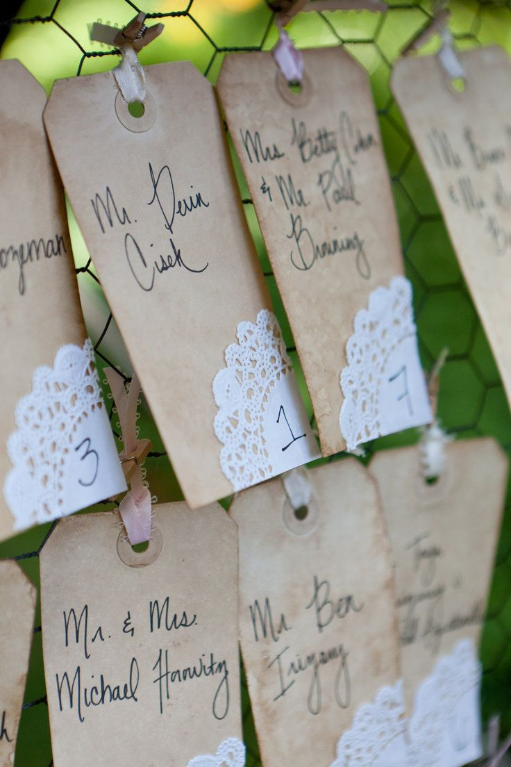 tags for place setting?---very pretty wedding.