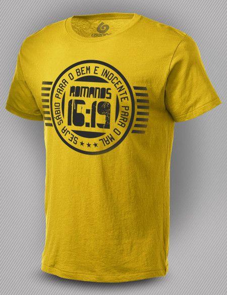 Camiseta Romanos 16:19                                                                                                                                                      Mais