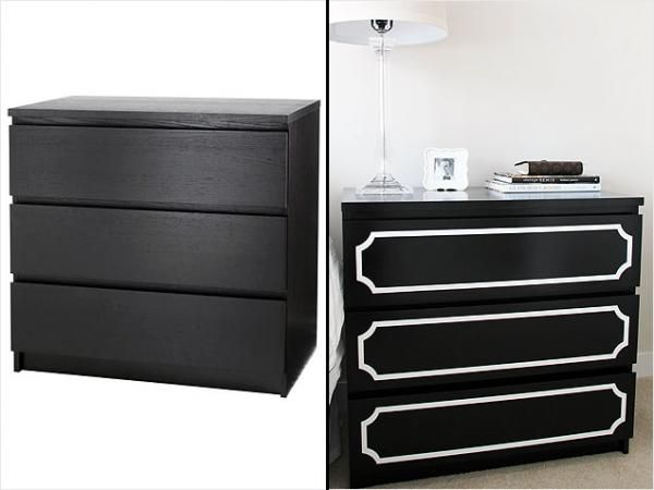 I love this! Taking a cheap piece of furniture and turning it into something glam!