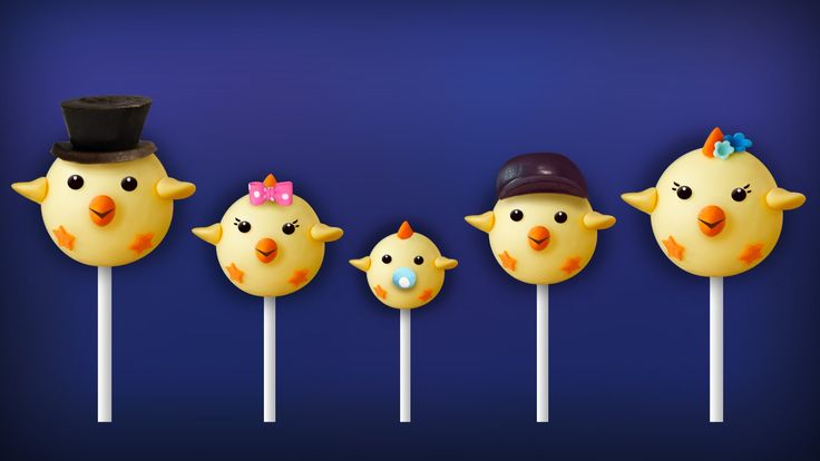 The Finger Family Chick Cake Pop Family Nursery Rhyme | Easter Finger Family Songs