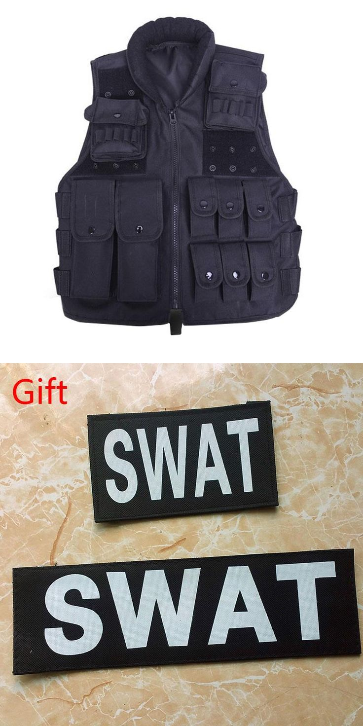 [Visit to Buy] Tactical Vest Cool Mens Hunting Vest Outdoor Training Military Army Swat Vests Men Waistcoat Protective Magazine Pouch Black  #Advertisement