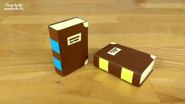 Mini könyv gyufásdobozból