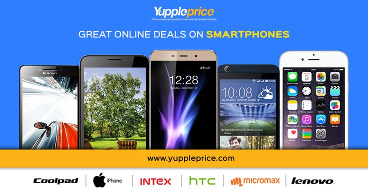 Great online deals on your favourite smartphone. #smartphones #deals #onlinedeals #samsung #iphone #intex #HTC #micromax