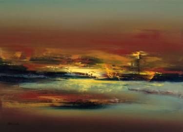 "Saatchi Art Artist Beata Belanszky-Demko; Painting, ""Lighthouse"" #art"