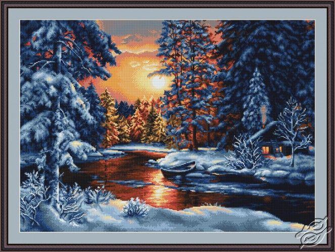 Winter Landscape II - Cross Stitch Kits by Luca-S - B477