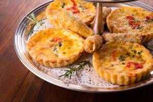 Delicious Biltong & Peppadew Tartlets made fresh at Rosemary Hill for the High Tea.