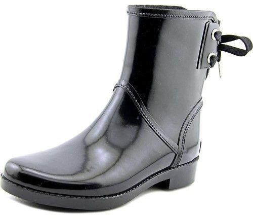 MICHAEL Michael Kors Larson Rainbootie Women US 11 Black Rain Boot