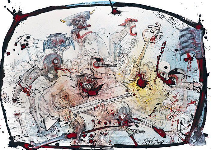 Artist: Ralph Steadman #steadman #artbrut #rawart #fuckart #ralphsteadman