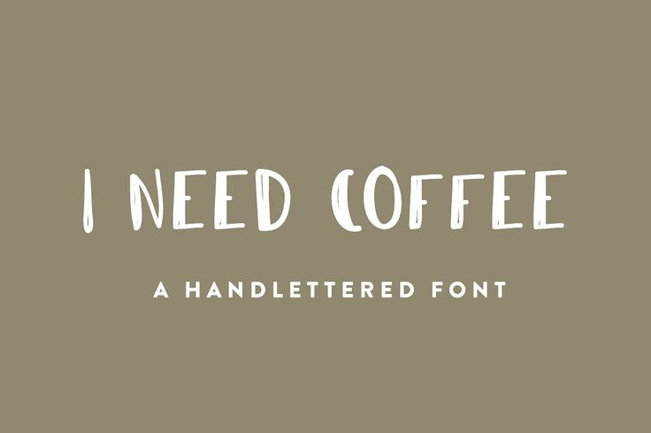 FREE DOWNLOAD (6-12 March) I Need Coffee Font - Display. An all uppercase font with numbers and a few pieces of punctuation. This would be a great font to use to create graphics for social media campaigns or on an image for blog posts. The font has a rough and hand created feeling that speaks to adventure and is very laid back.