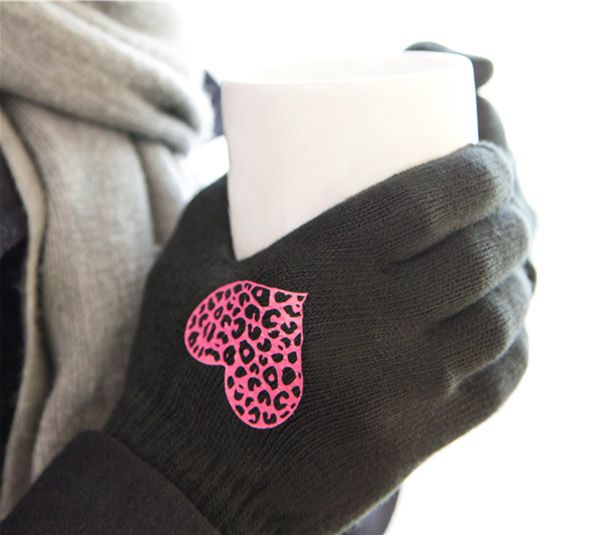 Love the idea of wearable art! Make your one-of-a-kind winter apparel with Cricut iron-ons! Love the idea of easy to identify gloves!