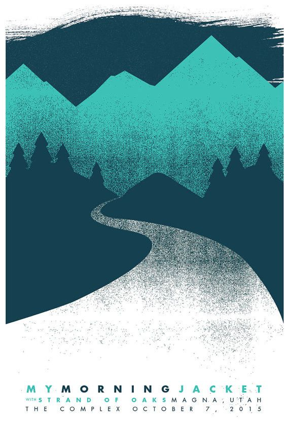 My Morning Jacket - Salt Lake City Gig Poster