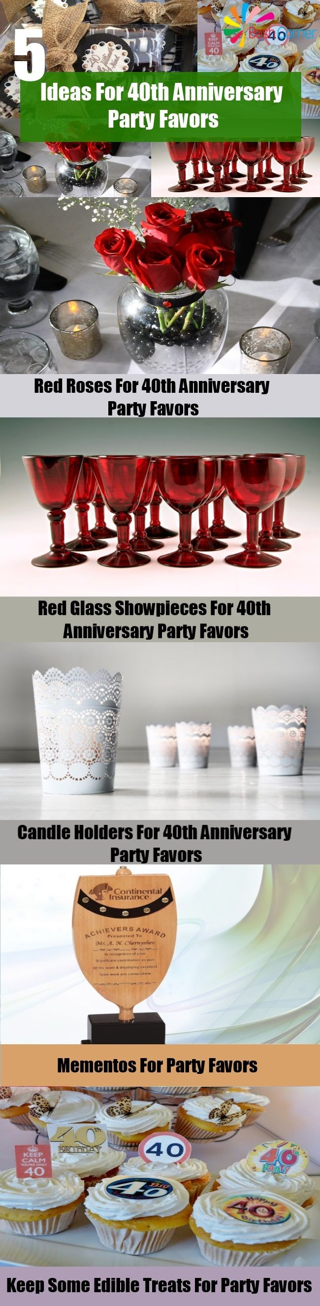 5 Ideas For 40th Anniversary Party Favors