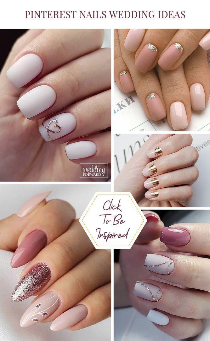 30 Pinterest Nails Wedding Ideas You Will Like Bridal Nail Art