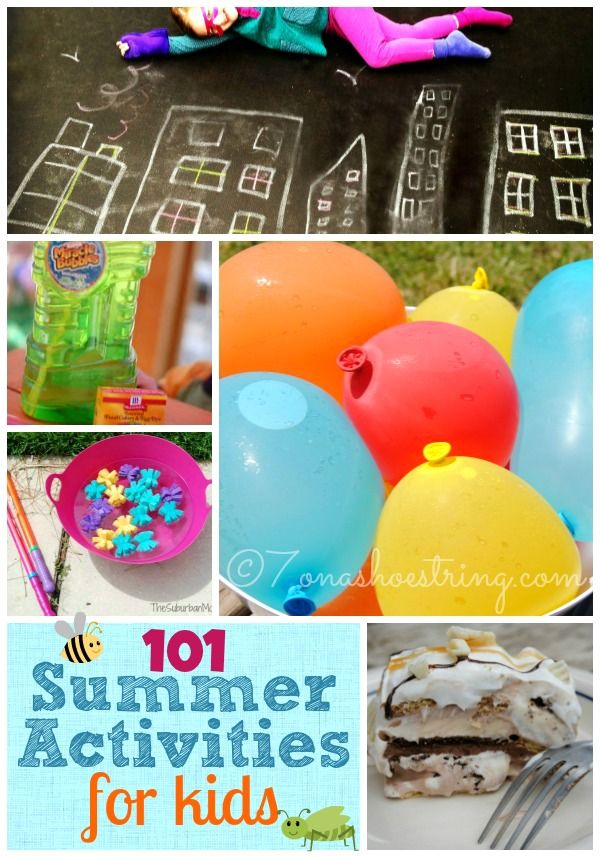 101 Summer Activities for Kids  some of these may be incorporated into your homeschool activities (recess).
