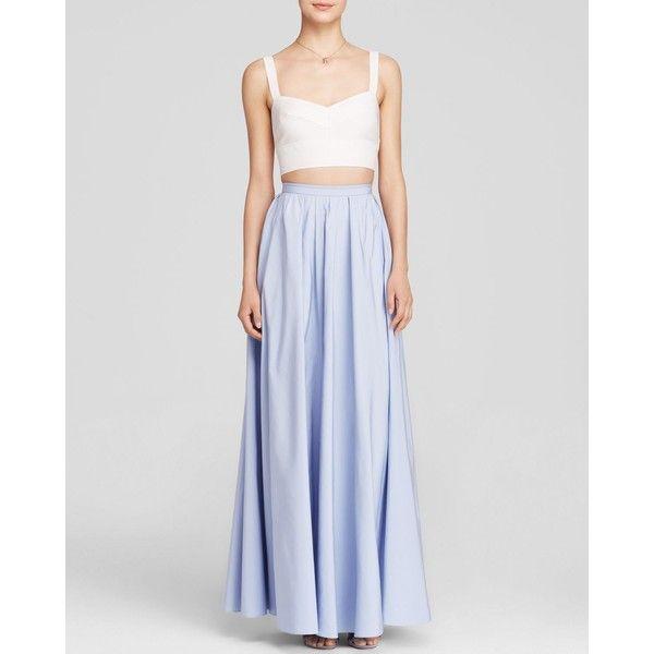 Jill Jill Stuart Sleeveless Bustier Crop Top & Faille Ball Skirt Two-Piece Gown - Bloomingdale's Exclusive