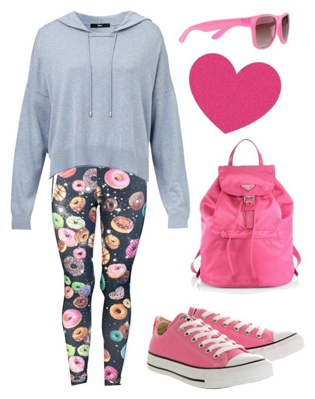 """""""Pink"""" by born4fashion ❤ liked on Polyvore featuring See You Monday, Converse, Prada and Tattly"""