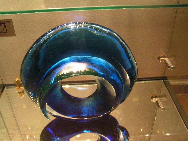 melted sculpture, glass