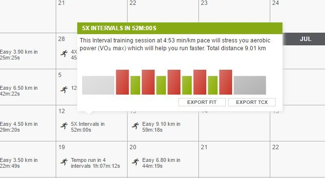 Marathon trainig plan - training hints