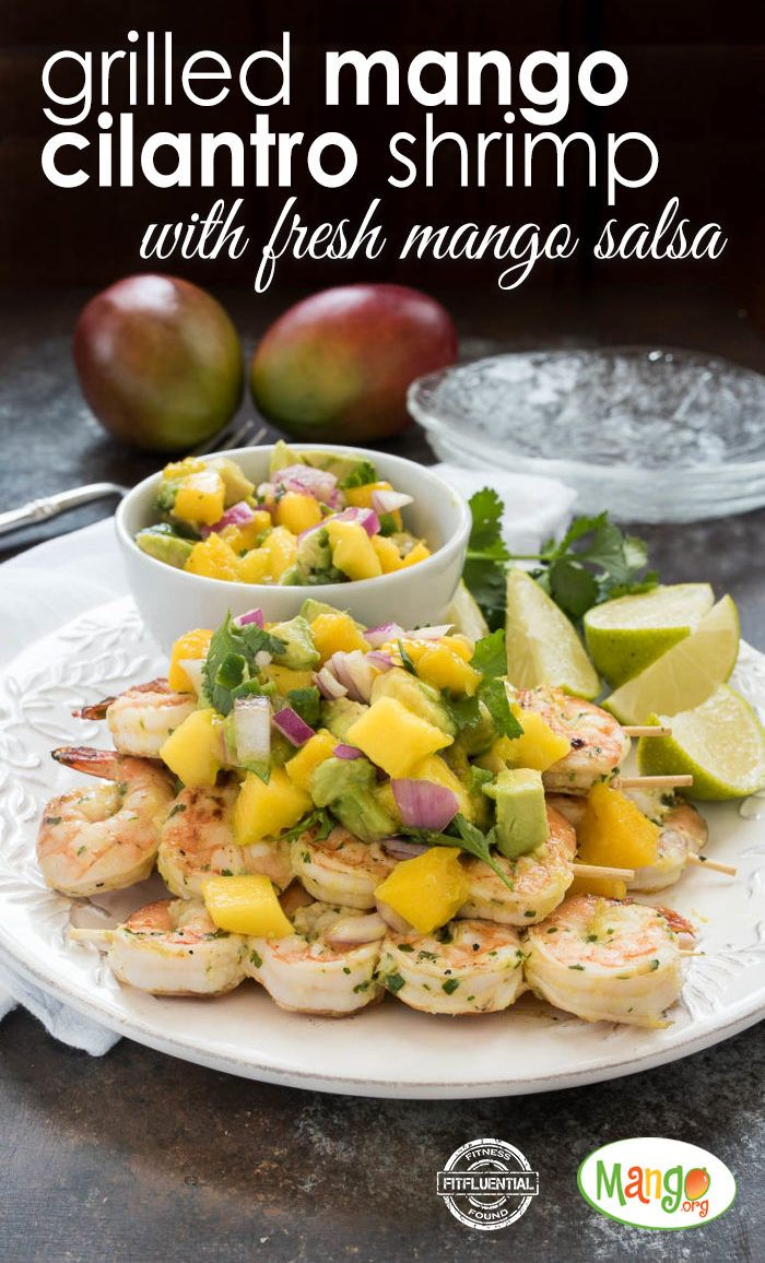 Mango Cilantro Shrimp with Fresh Mango Salsa -- minus the shrimp ...