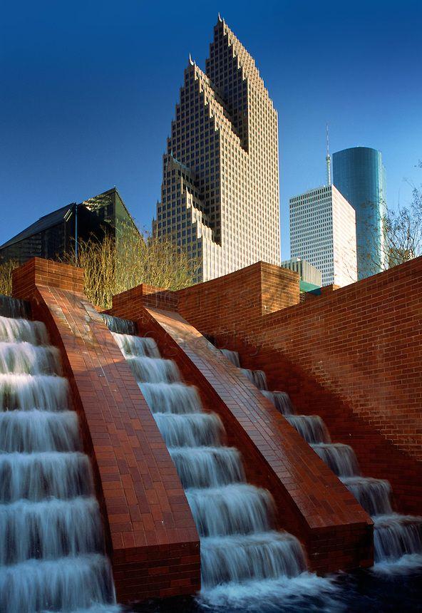 Houston Fountain in Downtown Houston