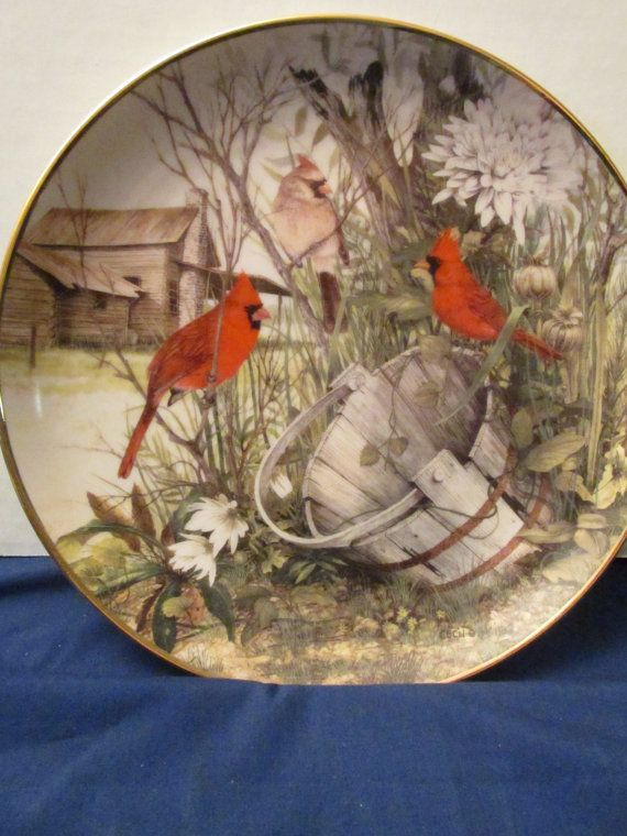 Collectors Plate The Franklin Mint Heirloom \ The Old Wooden Bucket\  by Cecil Eakins & 527 best P-Birds-04 (Angol) images on Pinterest | Bird Dishes and ...