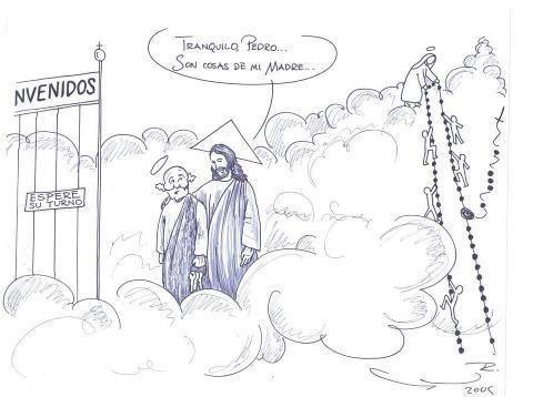 ¿Que para qué sirve el rezar el Rosario? http://www.devocionario.com/textos/c_cielo.html Vean esto que es una reflexión antigua alusiva a esta imagen