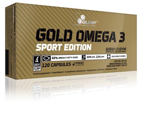 Olimp Gold Omega 3 Sport Edition 120 Kapsül, servis başına 650 mg EPA ve DHA omega-3 yağ asidi karışımı içeren supplement ürünüdür. Olimp Gold Omega 3 Sport Edition, derin su balıklarından elde edilmiş mükemmel omega-3 kompleksi dışında güçlü bir E Vitamini takviyesidir.