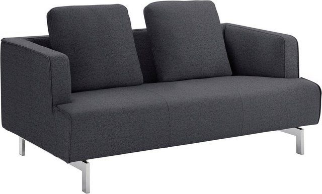 2 Sitzer Hs 440 Wahlweise In Stoff Oder Leder Spangenfusse Glanzchrom Sofa Couch Furniture