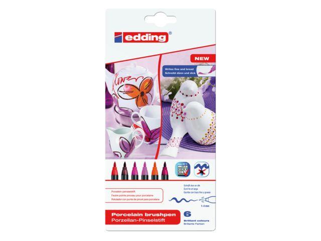 Viltstiften geschikt voor porselein, voor jouw #DIY koffiemok! Viltstift brushpen edding 4535 porselein warme kleuren # DKVH