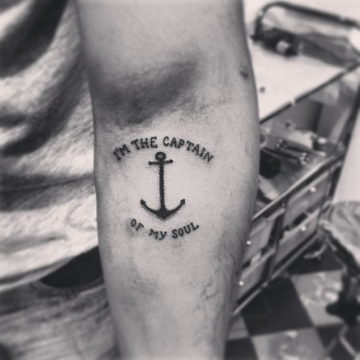 Im The Captain Of My Soul Tattoo