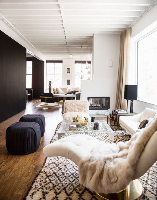 A strictly neutral color palatteDecor, Nate Berkus, Jeremiah Brent, Living Rooms, Livingroom, Interiors Design, Black White, House, Black Wall