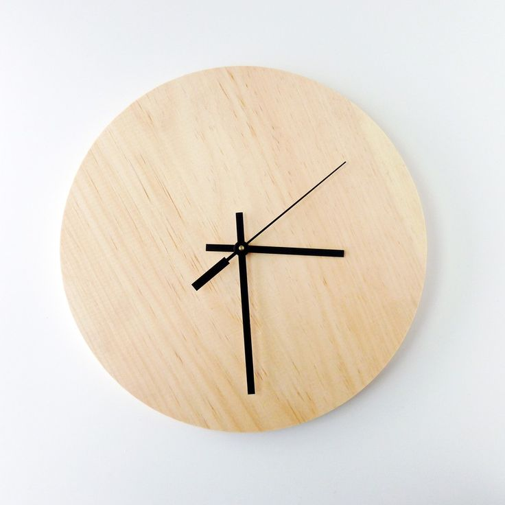 wood modern simple clock office design clock