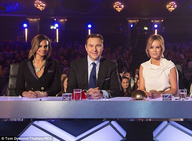Alesha Dixon, David Walliams and Amanda Holden. Britain's Got Talent judges auditions. London. Day 3. 14 February 2014.