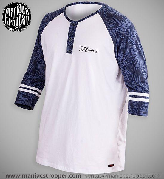Camiseta Mr Blue Buttons. Streetwear. Ropa Urbana