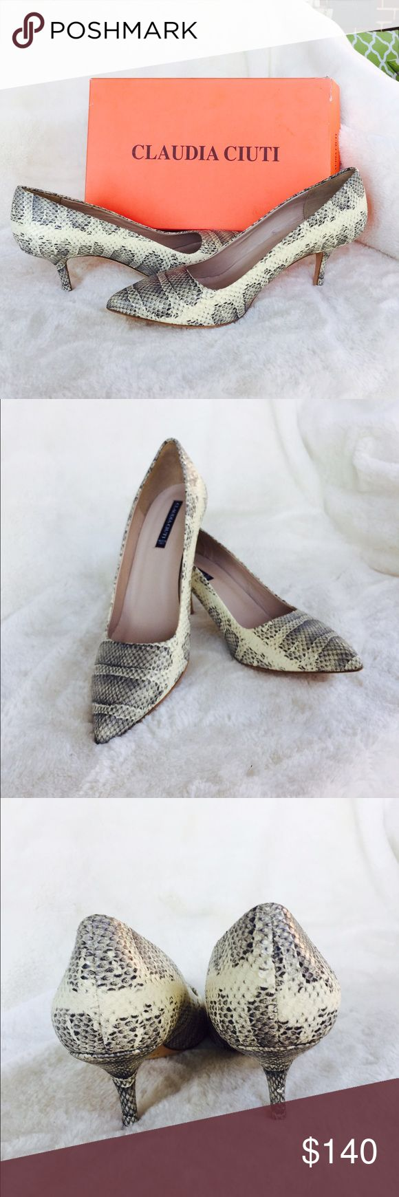 Claudia Ciuti Jade Roccia Ayers Pumps Super chic snakeskin pumps by Claudia Ciuti. These Italian made pumps definitely a head turner. Brand new with box. Size 9 narrow. Claudia Ciuti Shoes Heels