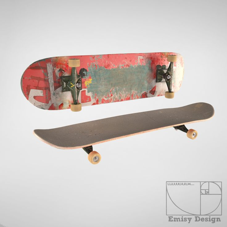 3D Skateboard Skate Board - 3D Model