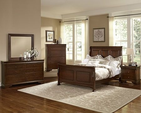French Market French Cherry Sleigh Bedroom