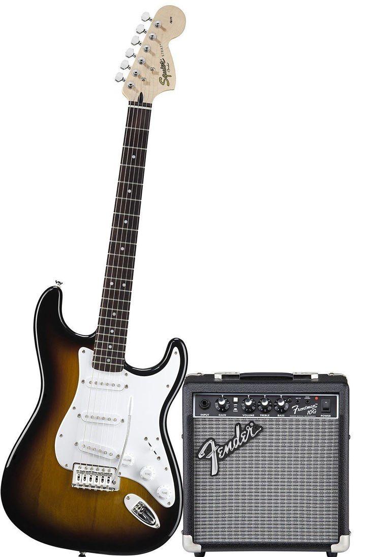 Guitare Électrique FENDER Squier Stratocaster+ AMPLIFICATEUR FENDER CHANTEUR 10G