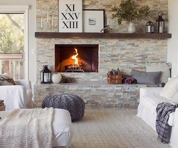 ledgestone tile ideas stone fireplace surround
