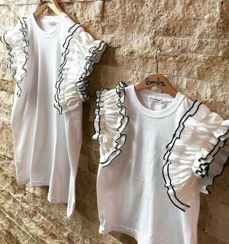 La prima t-shirt estiva by @mammebimbegal meravigliosamente #uguli #mamyandme #mammebimbe #mammefiglie #minime #abbigliamentouguale