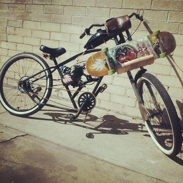 @skate_guru_ built this sweet cruiser with a one of a kind custom skateboard hol...