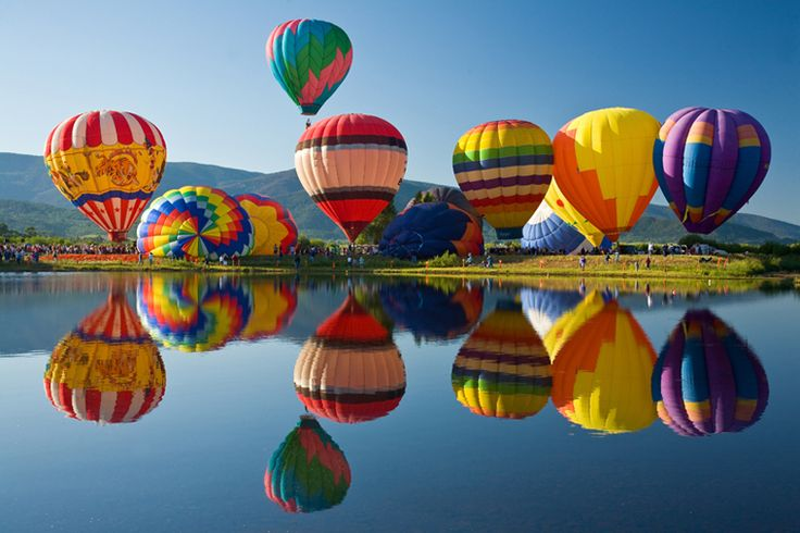 Steamboat Springs hot air balloon festival, Colorado, USA