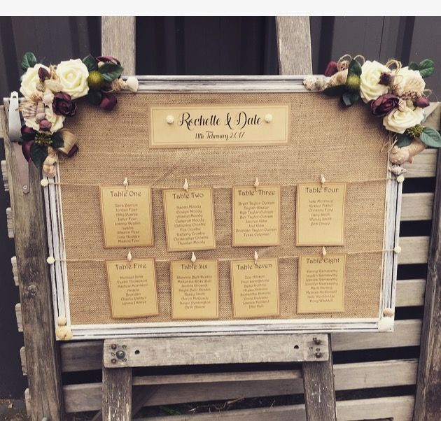 TABLE seating plan... beach style !