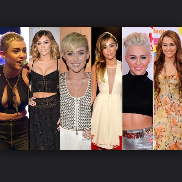 Pick your favourite Miley Cyrus hair cut... We picked number 6... Long hair! Leave a comment...