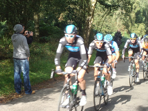 Team Sky, Wiggins and Cav in Tour of Britain Stage 5 at Cannock Chase